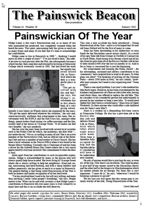Painswick Beacon January 2012 Edition